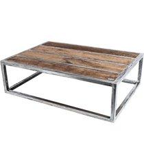 skd-1long stolik kawowy drewno lite dąb i stal