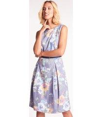 wizytowa sukienka w kwiaty aleta