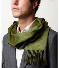 sciarpa da uomo, lanieri, cashmere seta verde, autunno inverno | lanieri