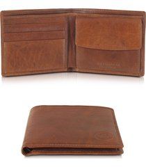 the bridge designer men's bags, story uomo leather billfold wallet w/coin pocket