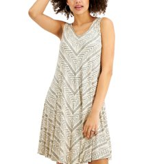 style & co petite printed dress, created for macy's