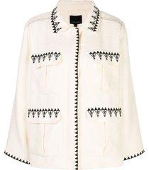 cynthia rowley damen multi-pocket jacket - white