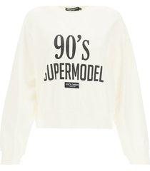 dolce & gabbana cropped sweatshirt 90s supermodel