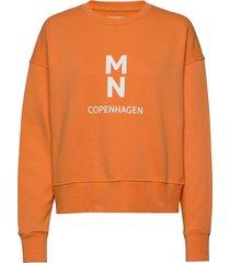 organic sweat tilvina p sweat-shirt trui oranje mads nørgaard