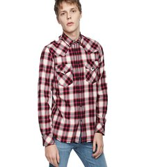 camisa s east long g shirt 37h rojo diesel