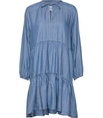 lilla ls dress jurk knielengte blauw second female