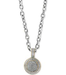 balissima by effy diamond pendant necklace (1/3 ct. t.w.) in sterling silver & 18k gold