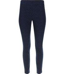 pantalon cigarette lunares color azul, talla 10