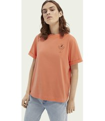 scotch & soda graphic relaxed-fit t-shirt