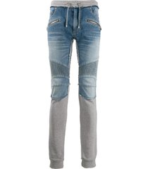 balmain hybrid slim-fit trousers - blue