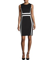 colorblock sleeveless sheath dress