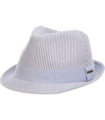 dorfman pacific men's seersucker fedora hat