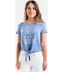 less monday more friday tee - blue