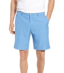 men's peter millar salem high drape performance shorts, size 42 - blue