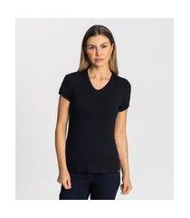 blusa básica feminina rovitex preto