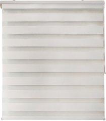 cortina rolo em poliéster zebra 120x160cm branca