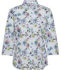 blouse 3/4-sleeve overhemd met lange mouwen wit gerry weber edition