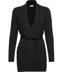 belted mid cardigan gebreide trui cardigan zwart filippa k