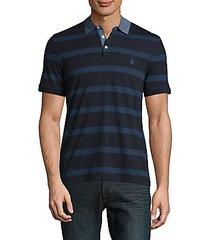 twill stripe polo shirt