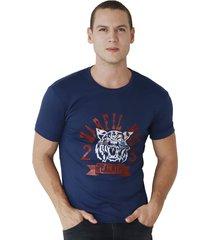 camiseta de hombre marfil slim fit algodon tiger azul