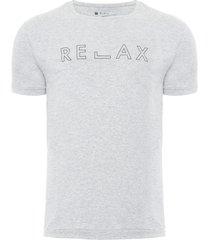 t-shirt masculina relax - cinza
