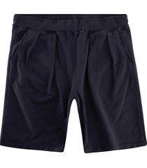monitaly french terry pleated shorts | black | m29450-blk