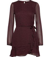 anf womens dresses knälång klänning brun abercrombie & fitch