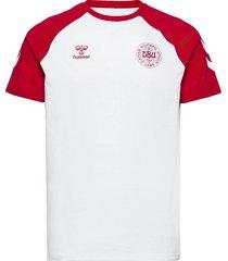 dbu fan 2020 cot. tee s/s t-shirts football shirts vit hummel