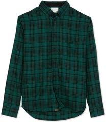 billy reid men's taped tuscumbia regular-fit plaid shirt