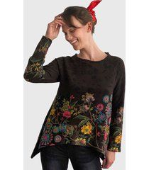 sweater desigual multicolor - calce holgado