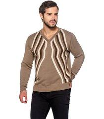suéter officina do tricô finlândia bege