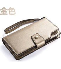 gran capacidad cartera para mujer/ long ladies wallet-dorado