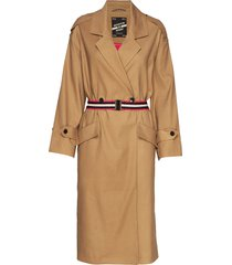 longer length drapy trench coat comes with a waist-belt trenchcoat lange jas beige scotch & soda