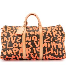 louis vuitton pre-owned keepall 50 travel bag - red