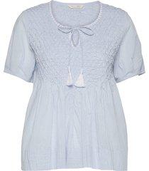 darya blouse blouses short-sleeved blauw odd molly