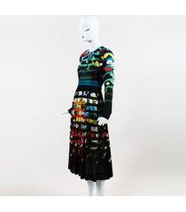 mary katrantzou erba floral shadow stripe dress