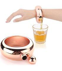 3.5oz fiaschetta da bere a forma di braccialetto per alcolico