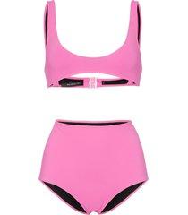 rochelle sara laeti emily scoop neck bikini - pink