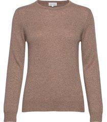 basic sweater stickad tröja brun davida cashmere