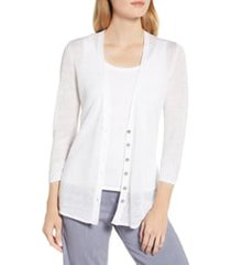 nic+zoe back of the chair cardigan, size small p in paper white at nordstrom