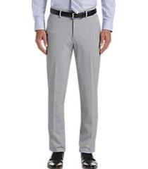 haggar j.m. haggar premium light grey 4-way stretch slim fit dress pants