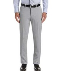 haggar jmh premium light gray 4-way stretch slim fit dress pants