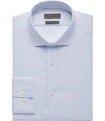 calvin klein men's infinite slim fit dress shirt blue dot - size: 18 1/2 38/39