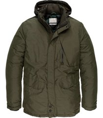 semi long jacket shiftback parka deep depths