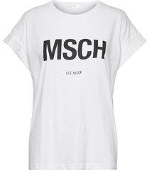 alva msch std tee t-shirts & tops short-sleeved vit moss copenhagen