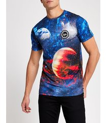 mens hype blue space print t-shirt
