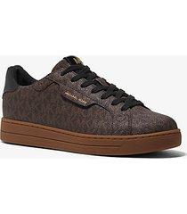 mk sneaker keating con logo - marrone (marrone) - michael kors