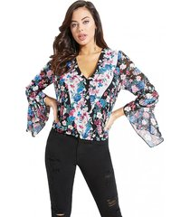 blusa crinkle new ggt multicolor guess