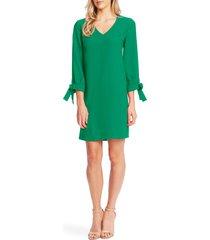 women's cece tie sleeve a-line dress, size 8 - green