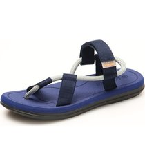 sandalias de verano para hombre para el hogar al aire libre-azul